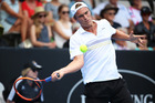 New Zealand wildcard Finn Tearney at the 2016 ASB Classic. Photo / Getty Images