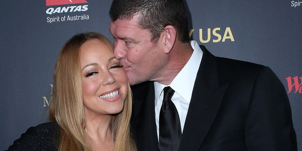 Mariah Carey and James Packer attend the 2016 G'Day Los Angeles Gala at Vibiana on January 28, 2016. Photo / Getty