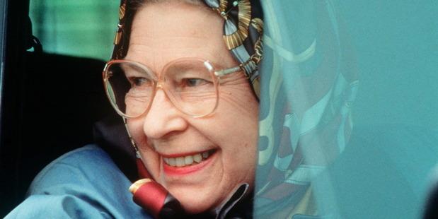 Queen Elizabeth II drives in Windsor.  Photo / Getty Images