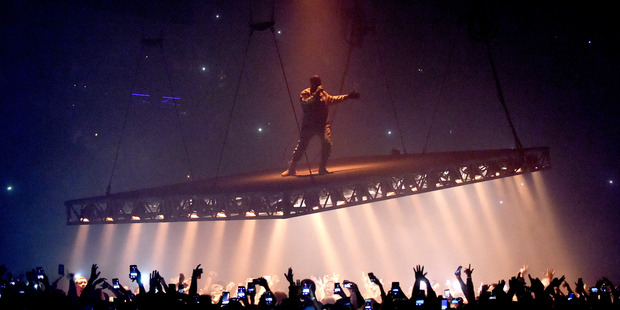 Rapper Kanye West performs at the Forum on October 25, 2016 in Inglewood, California. Photo / Getty