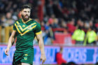 Australia's Josh Mansour during the Four Nations match between the Australian Kangaroos and Scotland. Photo / Getty Images