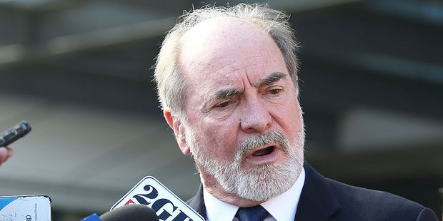 Australian Rugby League Commission Chairman John Grant speaks to the media during an NRL press conference. Photo / Getty Images