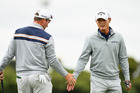 Kiwi pairing Ryan Fox and Danny Lee were unable to keep pace at the World Cup of Golf. Photo / Getty