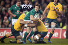 Irish five-eighth Paddy Jackson scored 12 points against Australia standing in for Johnny Sexton. Photo / Getty Images