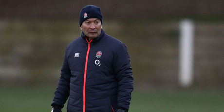 Eddie Jones, the England head coach looks on during an England training session. Photo / Getty Images