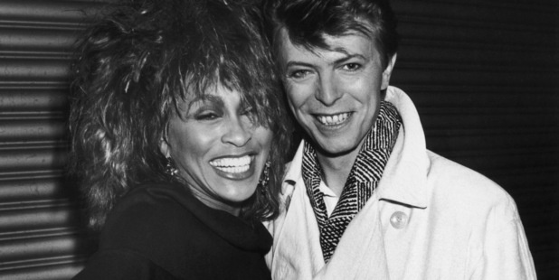 American pop and soul singer Tina Turner with English singer-songwriter David Bowie, 1985. Photo / Getty