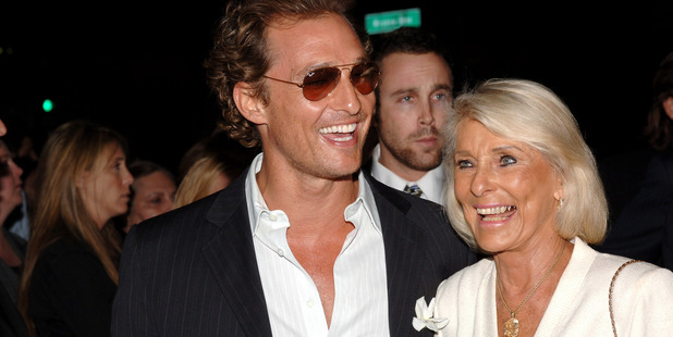Matthew McConaughey and mother Kay McConaughey. Photo / Getty