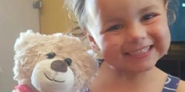 Indy Henderson, 3, died when a war memorial fell and crushed her. Photo / Channel 7