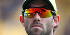 Controversial Australian allrounder Glenn Maxwell has been fined and given a public dressing down by captain Steve Smith. Photo / Photosport.