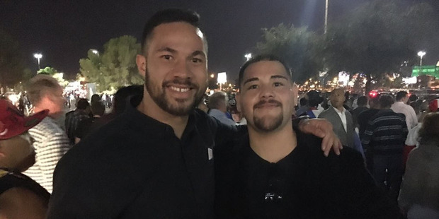 Joseph Parker's trainer Kevin Barry says Andy Ruiz Jr must be considered the favourite to beat his man and claim the WBO world heavyweight title in Auckland in a fortnight. Photo / Twitter.