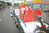 Santa in his sleigh at the Tauranga Christmas Parade. Photo/Andrew Warner
