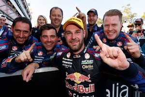 Shane Van Gisbergen after his title win. Photo / Getty Images