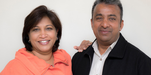 Indranee (left) and Cliffy Reddy sold their restaurant and their home to start Te Whakaora Tangata. Photo / Supplied
