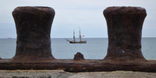 Tall ship Phoenix off Charlestown, Cornwall. Photo / Mark Coleman