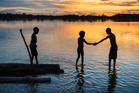 Children bathing in the Sepik river. Photo / Getty Images