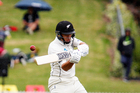 Ross Taylor finding the boundary. Photo / NZME