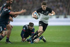 All Blacks 1st-five Beauden Barrett in action against France during the test match between the New Zealand All Blacks and France. Photo / Brett Phibbs.