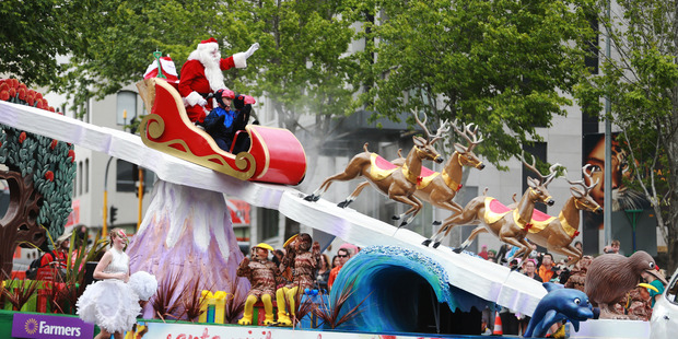 The Farmers Santa Parade in central Auckland today. Photo / Doug Sherring