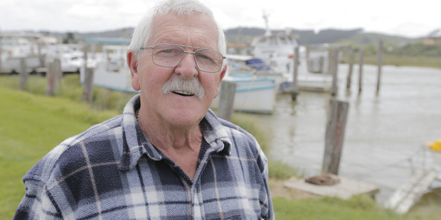 Bill Reid, an old friend who had driven up from Hamilton to pay his respects, said McNatty had found his niche in Helensville with his boat. Photo / Micheal Craig