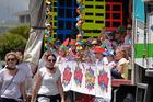 Santa Parade Papamoa's overalll winning float by Papamoa Coast Kindergarten Photo/George Novak