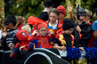 Superheroes stole the show at Papamoa's Santa Parade yesterday. Photo/George Novak