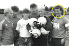 Barry Bennell (circled) with a group of hopeful Crewe youth team players in 1986. Photo / Tumblr
