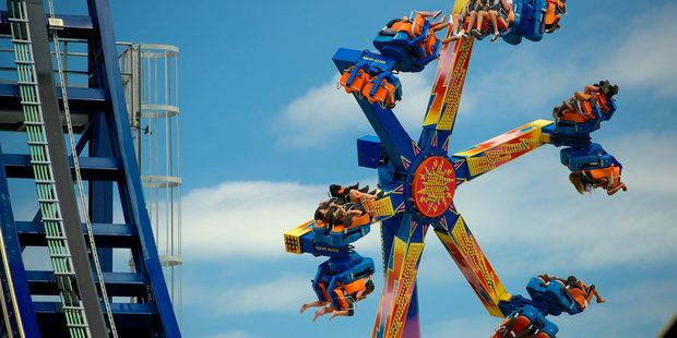 The Power Surge ride at Rainbow's End. Photo / Supplied