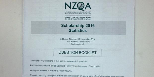 The NCEA Scholarship 2016 Statistics paper prepared by NZQA.