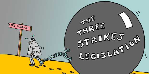 The Three-Strikes legislation is only going to increase that number. Photo / Peter Bromhead