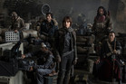 Felicity Jones, centre, stars as Jyn Erso in new Star Wars movie Rogue One. Photo/Supplied