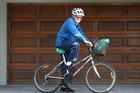 Ron Wallbank, 94, rides his bike everyday. Photo/John Borren