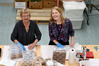 Volunteering for the day at Tauranga Foodbank with Anne Urquhart and Bay of Plenty Times reporter Allison Hess. Photo/George Novak