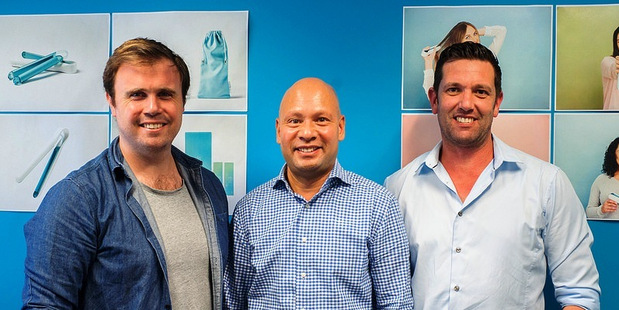 CHILLING OUT: (from left) Daniel Faris, Locus Research, and Inverse's Wilhelm Hertig and David Roe are planning a global push for the sub-zero hair system. PHOTO/SUPPLIED