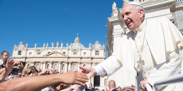 Pope Francis is praying for New Zealanders shaken by last month's earthquake. Photo / AP
