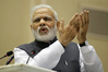 FRONTRUNNER: Indian Prime Minister, Narendra Modi, is leading Time Magazine's Readers' Poll for its Person of the Year. PHOTO AP
