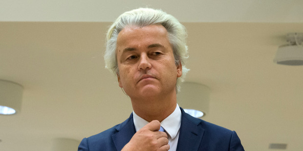 Populist anti-Islam lawmaker Geert Wilders is currently leading in the polls in the Netherlands. Photo / AP