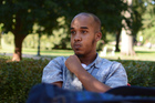 Abdul Razak Ali Artan was killed after an attack at Ohio State University. He is shown in this photo from the first day of classes, from the Lantern student newspaper. Photo / Kevin Stankiewicz