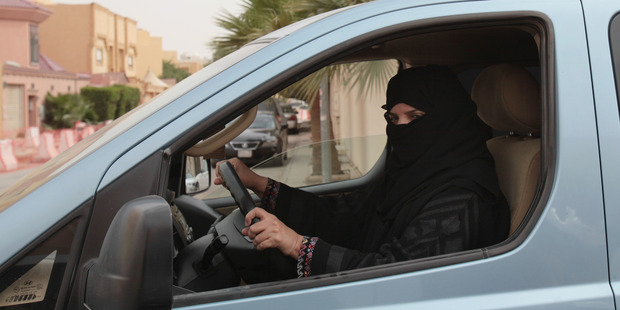 Women are banned from driving cars in Saudi Arabia. Photo / AP
