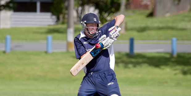 IN FORM: Tauranga Boys' College allrounder Sean Wakelin starred with bat and ball in the big win over Otumoetai Cadets on Saturday. PHOTO/FILE