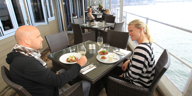 Diners at Harbourside Restaurant, winner of the outstanding restaurant in this year's hospitality awards, enjoy lunch on the water. Photo/file