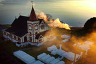 Monday's early morning geyser erupted in Lake Rotorua just off the shores of Ohinemutu (pictured). Photo / File