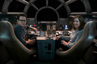 Kathleen Kennedy (right) with Force Awakens director JJ Abrams, has drawn controversy for her recent remarks on female directors. Photo / Supplied