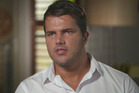 The impromptu grilling began with Gable Tostee apparently avoiding serious questions about the case. Photo / Nine Entertainment