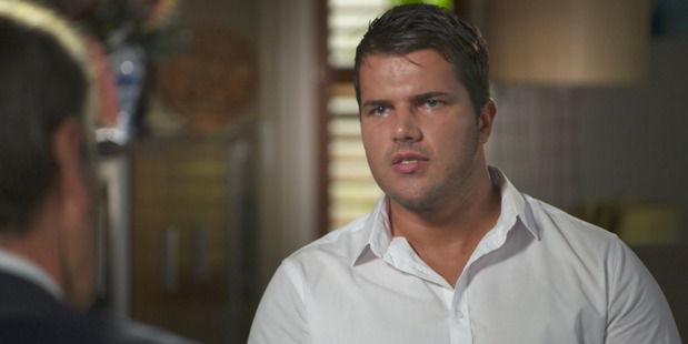 Loading The impromptu grilling began with Gable Tostee apparently avoiding serious questions about the case. Photo / Nine Entertainment