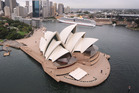The Sydney Opera House, where Crowded House played.