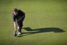 New Zealand bowler Jo Edwards will bring up 500 tests against Saskia Schaft. Photo / Greg Bowker
