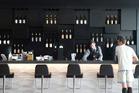 Air New Zealand Koru Lounge bar at Auckland Airport. Photo / Nick Reed