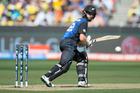 Kane Williamson in the World Cup final - his only one day bat against Australia across the Tasman. Photo / Brett Phibbs.