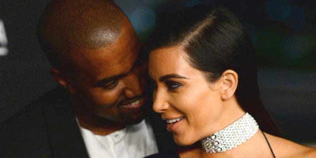 Kanye West and wife Kim Kardashian. Photo / AP