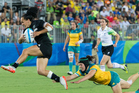New Zealand's Portia Woodman said changing back to sevens will not be an easy process. Photo/Photosport